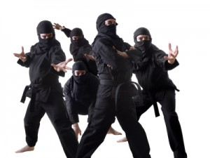 What more intimidating that one PowerPoint ninja? How about a team of PowerPoint ninjas?