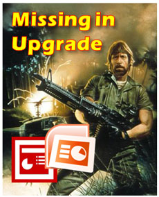 Chuck Norris would seriously maim the Microsoft product manager responsible for these upgrade oversights.
