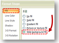 Slide background fill wasnt available in PPT 2003