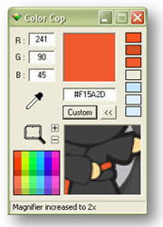 Color Cops magnifier comes in handy when youre trying to isolate a specific color