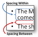 Take control of the spacing within and between lines.