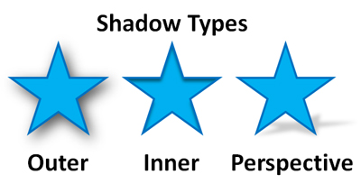 There are three main types of shadows. In order to match up shadow effects using the format options, you have to be within the same shadow type.
