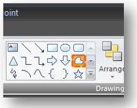 Select the Freeform shape option -- not the Arrow shape option.